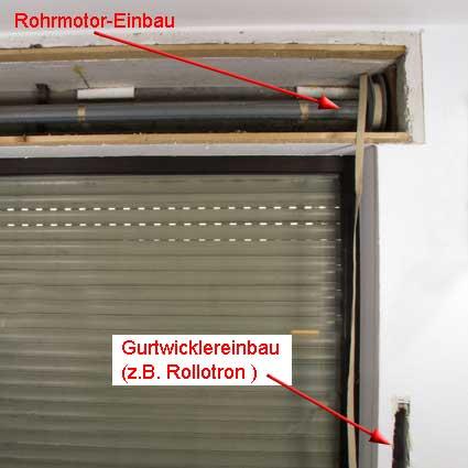 Sehr Automatische Rollladen - Unterschied in der Montage von Rohrmotor YQ74